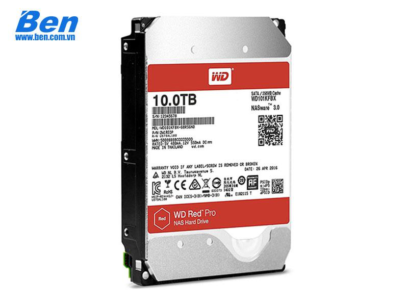 Ổ cứng gắn trong Western Red Pro 10TB 3.5 SATA3 / 256MB Cache /7200rpm