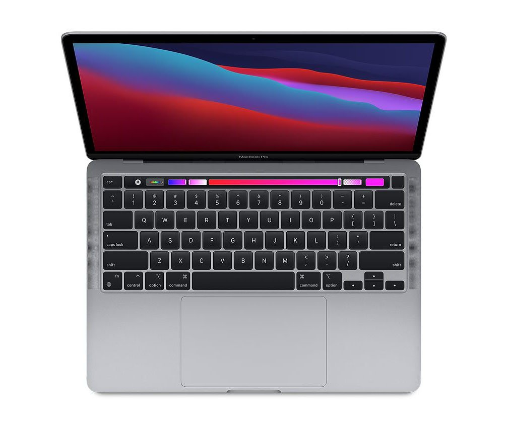 Laptop Apple MacBook Pro (Z11D000E5)/ Silver/ M1 Chip/ RAM 16GB/ 256GB SSD/ 13.3 inch Retina/ Touch Bar and Touch ID/ Mac OS/ 1 Yr