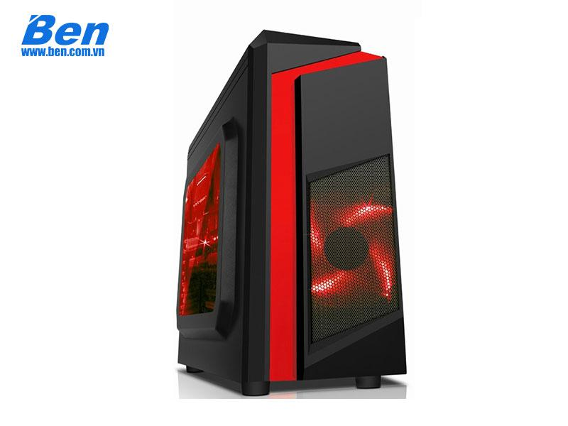 Case SAMA E-Sport F2 Black - Red