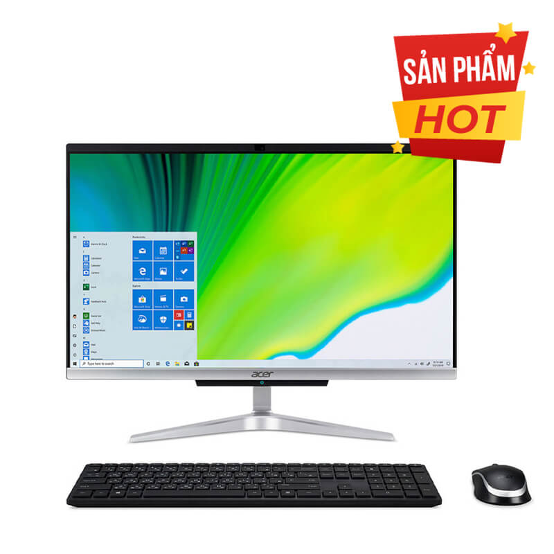"Máy tính để bàn All in One Acer Aspire C22-963 DQ.BEPSV.001 (21.5"" Full HD/ Intel Core i5-1035G1/ 8GB DDR4/ 128GBSSD + 1TBHDD/ Windows 10 Home SL 64-bit/WiFi 802.11ac) - 1Yrs WRT"