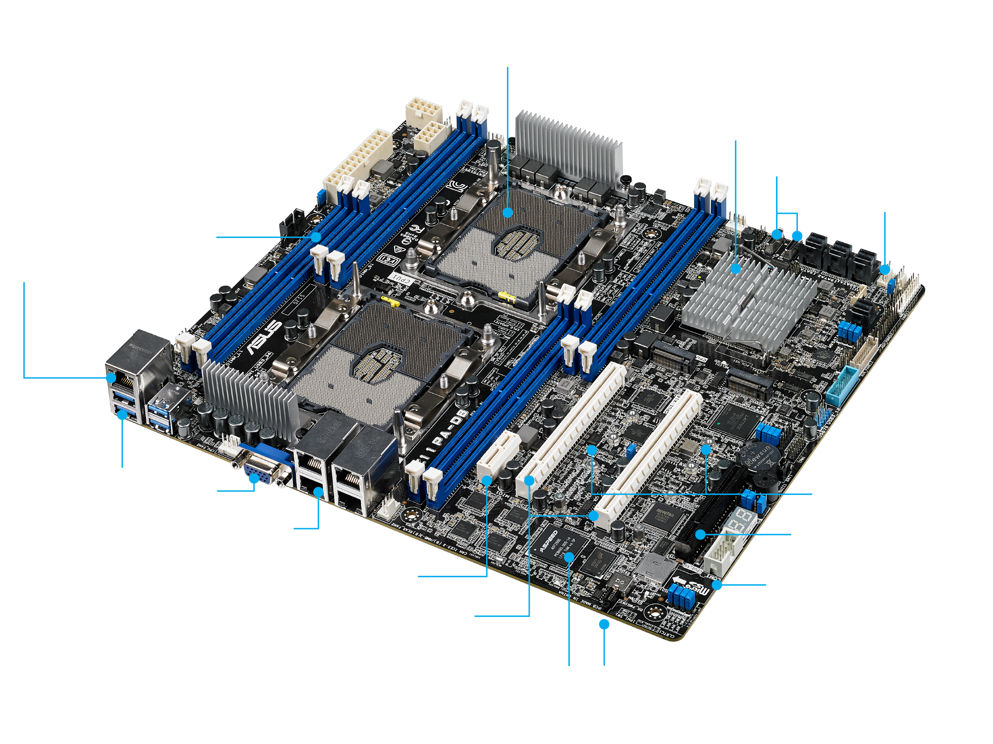 Bo mạch chủ Mainboard Asus Z11PA-D8 (Dual CPU Server & Workstation)
