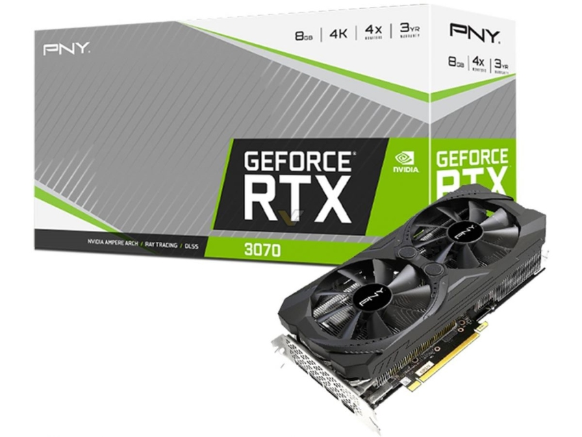 Card màn hình PNY RTX 3070 8GB REVEL 8GB UPRISING Dual Fan