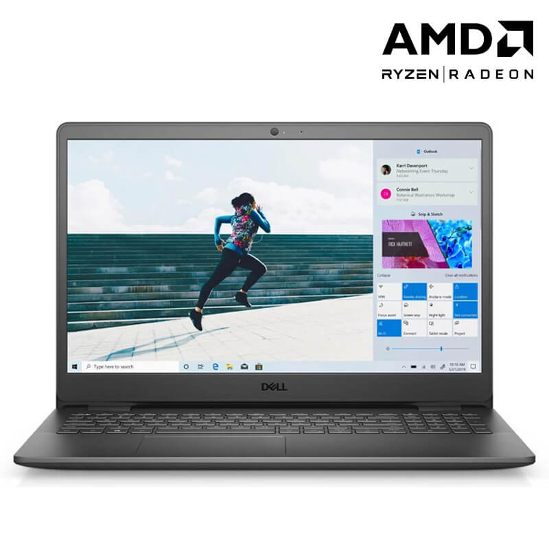 Laptop Dell Inspiron 15 3505 (Y1N1T1)/ Black/ AMD Ryzen R3-3250U (4MB, up to 3.50Ghz)/ RAM 8GB DDR4/ 256GB SSD/ AMD Radeon Graphics/ 15.6 inch FHD/ BT/ 3 Cell/ Win 10SL/ PreSup/ 1 Yr
