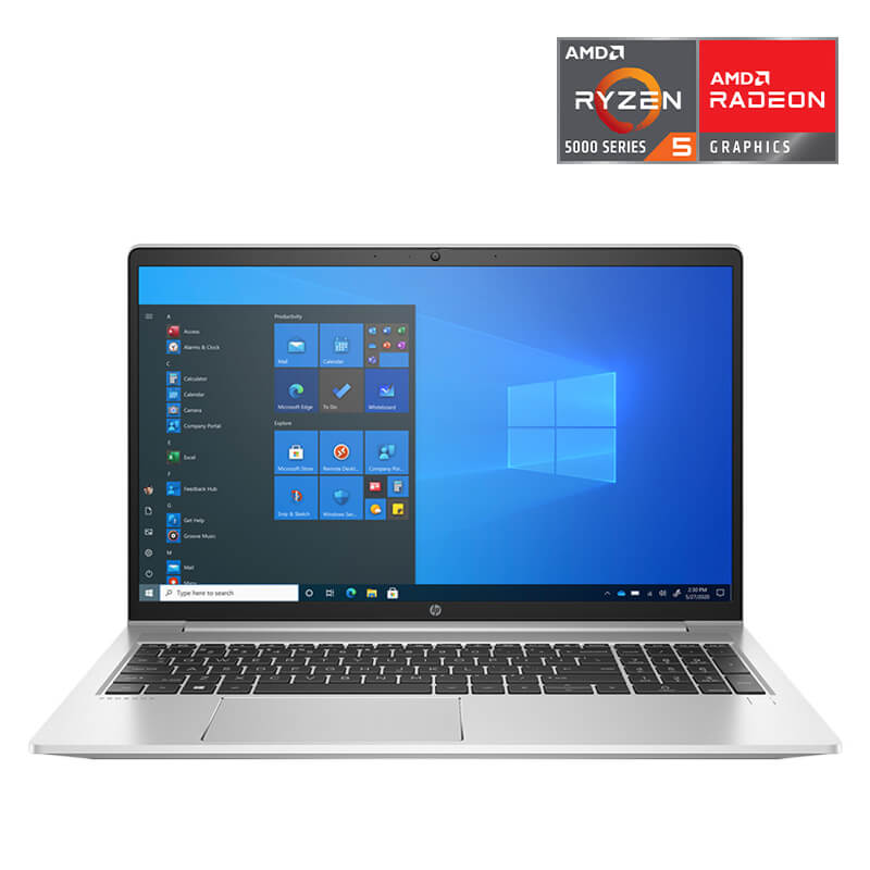 Laptop HP Probook 455 G8 (3G0U6PA)/ Silver/ AMD Ryzen 5 5600U (2.30 Ghz, 3 MB)/ RAM 4GB DDR4/ 256GB SSD/ 15.6 inch FHD/ AMD Radeon Graphics/ FP/ WL+BT/ LED_KB/ Win 10SL/ 1 Yr