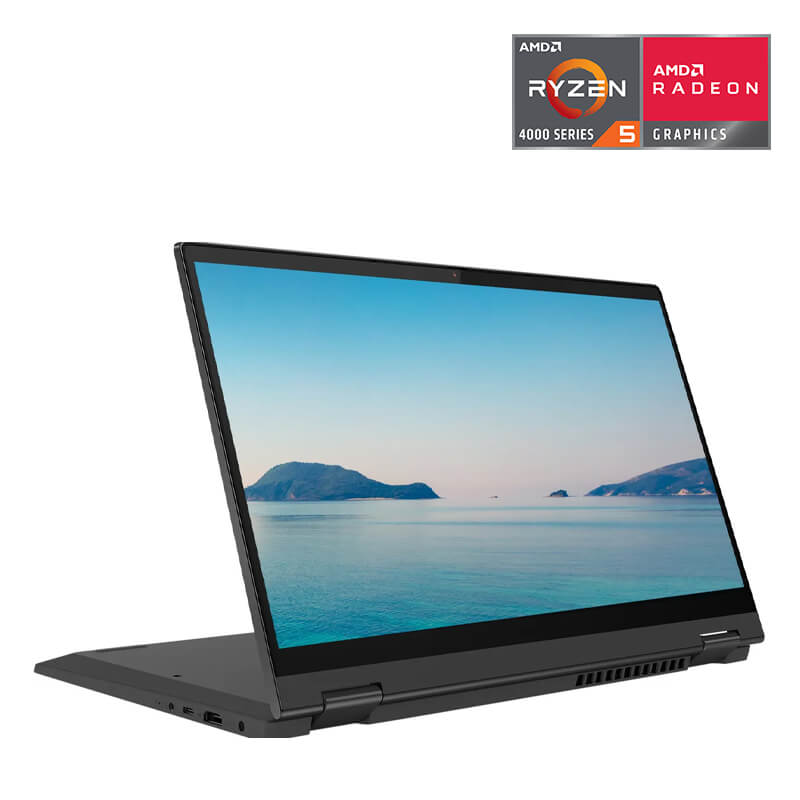 Laptop Lenovo Ideapad Flex 5 14ARE05 (81X2008XVN)/ Grey/ AMD Ryzen R5-4500U (2.3 Ghz, 8MB)/ RAM 8GB DDR4/ 512GB SSD/ AMD Radeon Graphics/ 14 inch FHD/ 3 Cell 52.5 Whr/ LED_KB/ Pen/ 2 Yrs