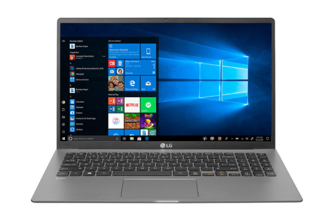 Laptop LG Gram 15Z90N-V.AR55A5/ Dark Silver/ Intel Core i5-1035G7/ Ram 8GB DDR4/ SSD 512GB/ 15.6 inch FHD/ Intel Iris Graphics/ WC/ FP/ Win10H/ 1Yr