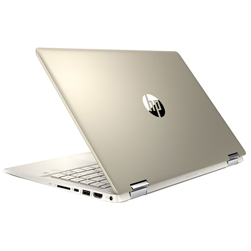 Laptop HP Pavilion x360 14-dw1018TU (2H3N6PA)/ Gold/ Intel Core i5-1135G7 (up to 4.20 Ghz, 8MB)/RAM 8GB DDR4/ 512GB SSD / Intel Iris Xe Graphics/ 14.0 inch FHD IPS Touch/PEN/FP/ WL + BT/ 3Cell/ Win 10 SL + Office/ 1 Yr
