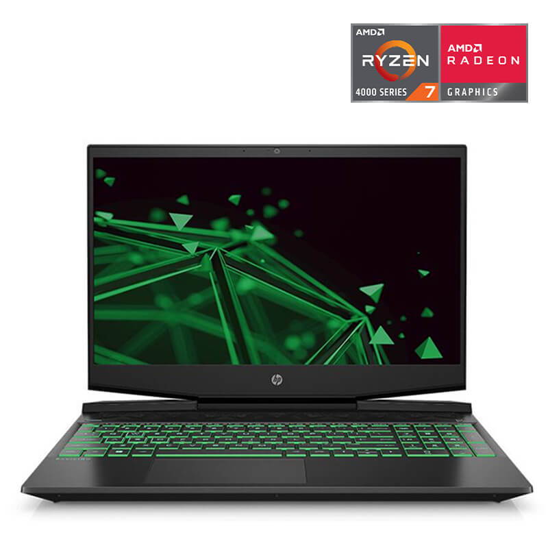 Laptop HP Pavilion Gaming 15-ec1056ax (1N1J6PA)/ Black/ AMD Ryzen R7-4800H (2.90GHz, 8MB)/ Ram 8GB DDR4/ SSD 512GB/ GeForce GTX 1650 4GB/ 15.6 inch FHD/ 3Cell/ Win 10/ 1Yr