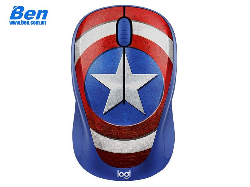 Chuột không dây Logitech M238 Marvel Collection-Captain American