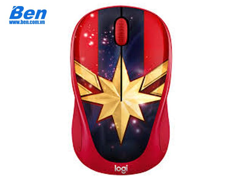 Chuột không dây Logitech M238 Marvel Collection-Captain Marvel