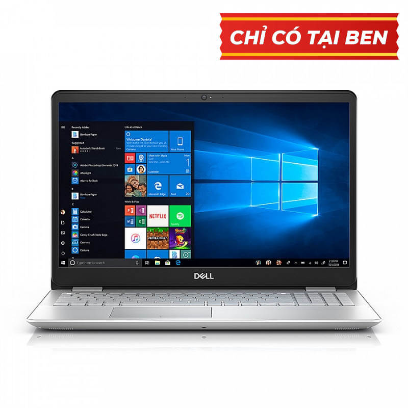 Laptop Dell Inspiron 5584 (N5I5353W)/ Silver/ Intel core i5-8265U/ Ram 8 GB/ HDD 2 TB/ NVIDIA GeForce MX130 with 2GB GDDR5/ 15.6 Inch FHD/ 3 Cell 42 whr/ Win 10