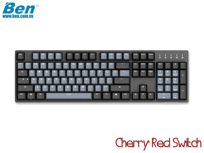 Bàn Phím Cơ Durgod Taurus K310 Space Gray (Cherry Red Switch)