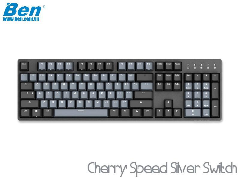 Bàn Phím Cơ Durgod Taurus K310 Space Gray (Cherry Speed Silver Switch)