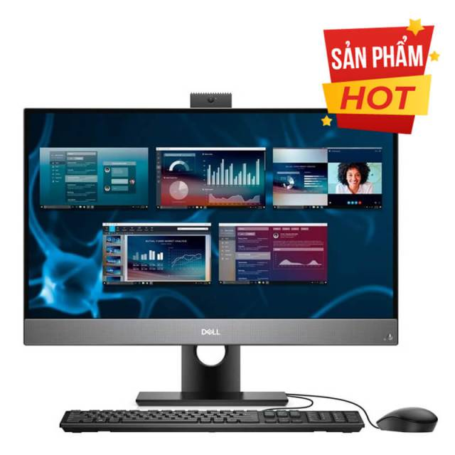 Máy tính để bàn All In One Dell OptiPlex 7480/ Intel Core i5-10500T (2.30Ghz, 12MB)/ RAM 8GB (1x8GB) DDR4/ SSD 512GB/ Intel UHD Graphics/ 23.8 inch FHD Touch/ Wifi + BT + WC/ Key + Mouse/ Ubuntu/ 3Yrs
