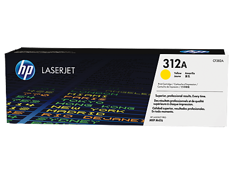 Mực in Laser màu vàng HP 312A Yellow Original LaserJet Toner Cartridge (CF382A)