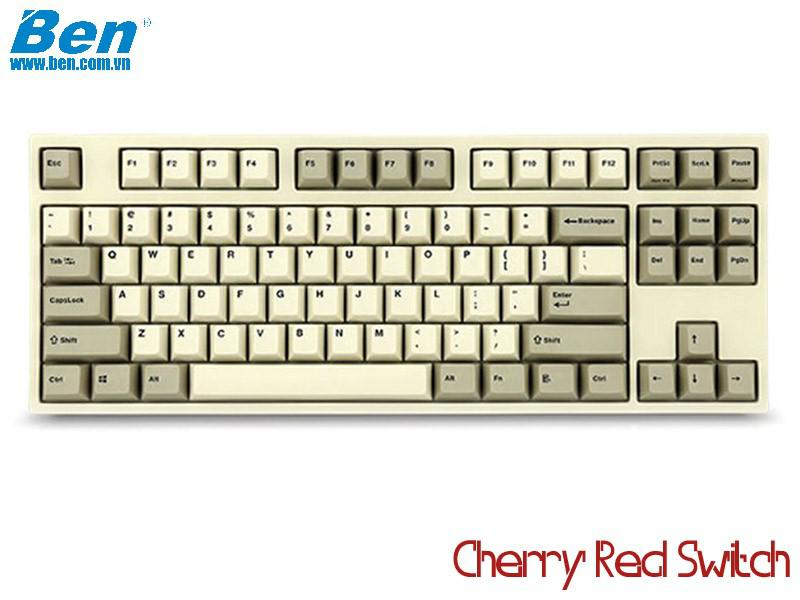 Bàn Phím Cơ Leopold FC750R PD White Grey (Cherry Red Switch)