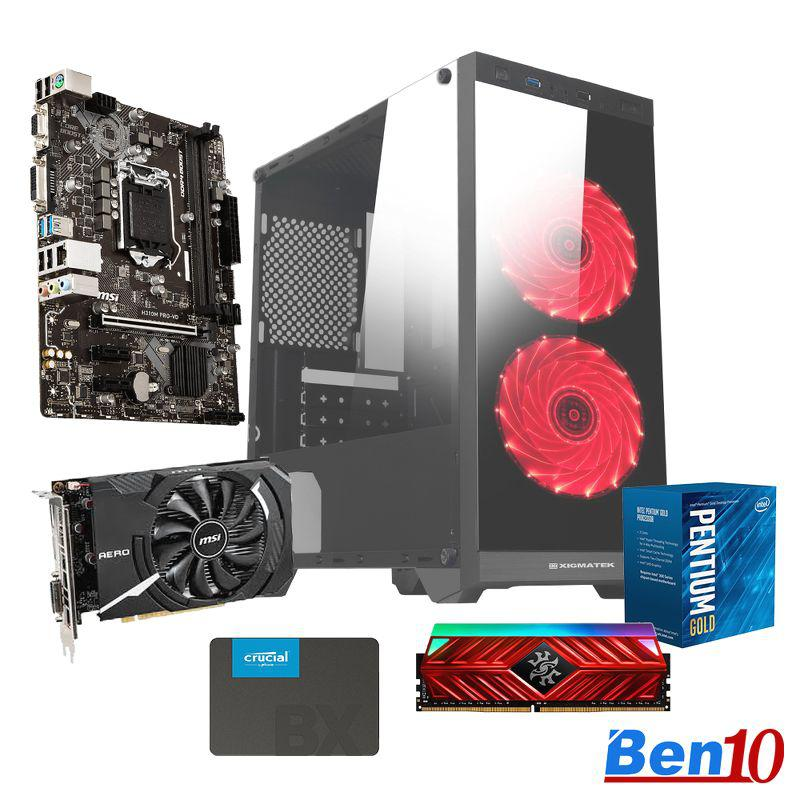 PC Ben10 Gaming MS01/ H410/ G6400/ RAM 8GB/ SSD 240GB/ GTX1650/ 450W