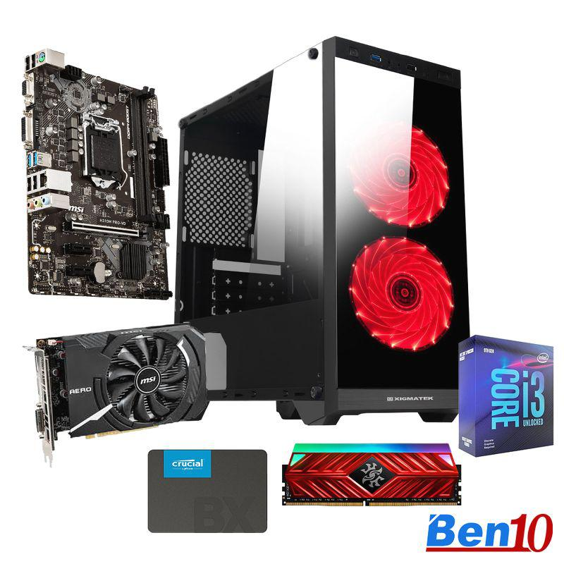 PC Ben10 Gaming MS02/ B460M/ Core I3/ RAM 8GB/ SSD 240GB/ GTX1650/ 450W