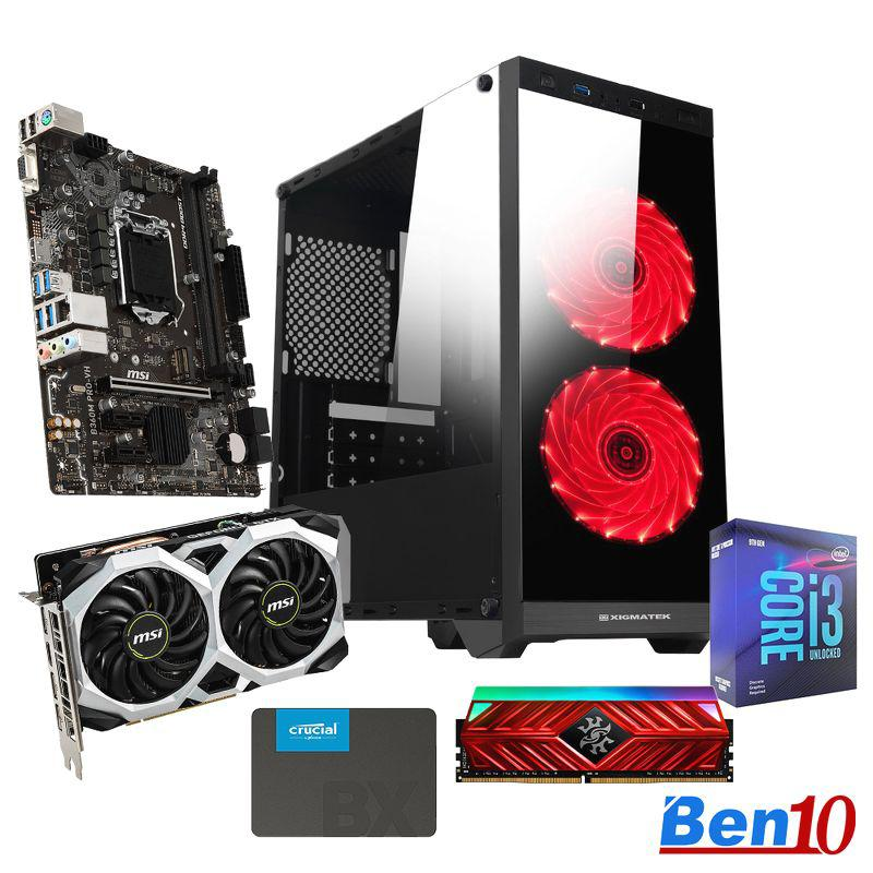 PC Ben10 Gaming MS03/ B460M/ Core I3/ RAM 8GB/ SSD 240GB/ GTX1660/ 500W