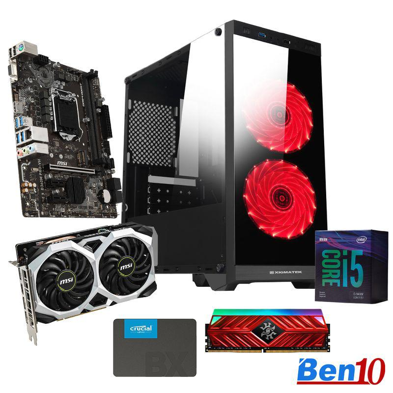 PC Ben10 Gaming MS04/ B460M/ Core I5/ RAM 8GB/ SSD 240GB/ GTX1660/ 500W