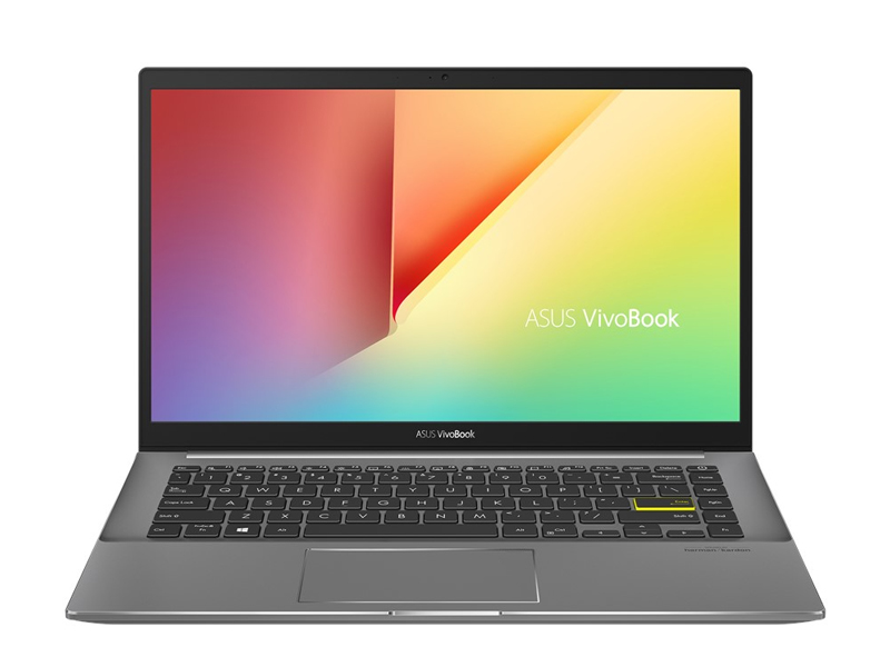 Latop Asus Vivobook S433EA-AM439/ Black/ Intel Core i5-1135G7 ( upto 4.2GHz, 8MB)/ RAM 8GB DDR4/ SSD 512GB/ Intel Iris Xe Graphics/ 14.0 inch FHD/ Win 10/ 2Yrs