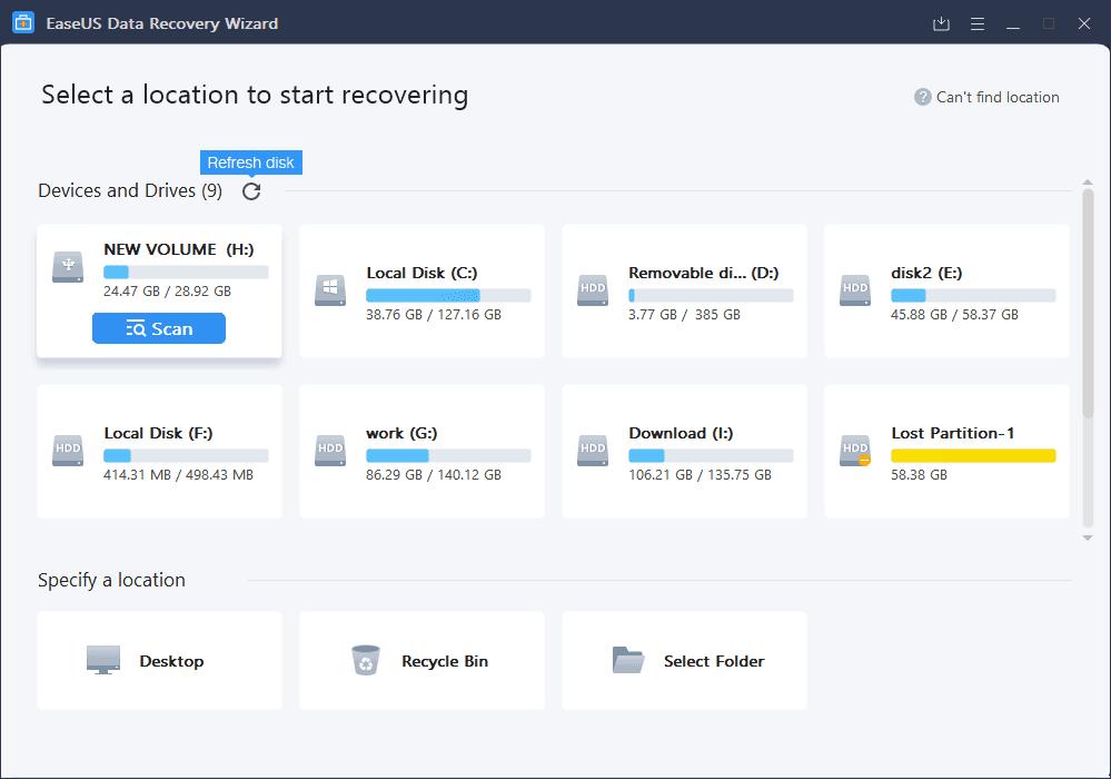 Phần mềm phục hồi dữ liệu Easeus Data Recovery Wizard ( Free & Pro )