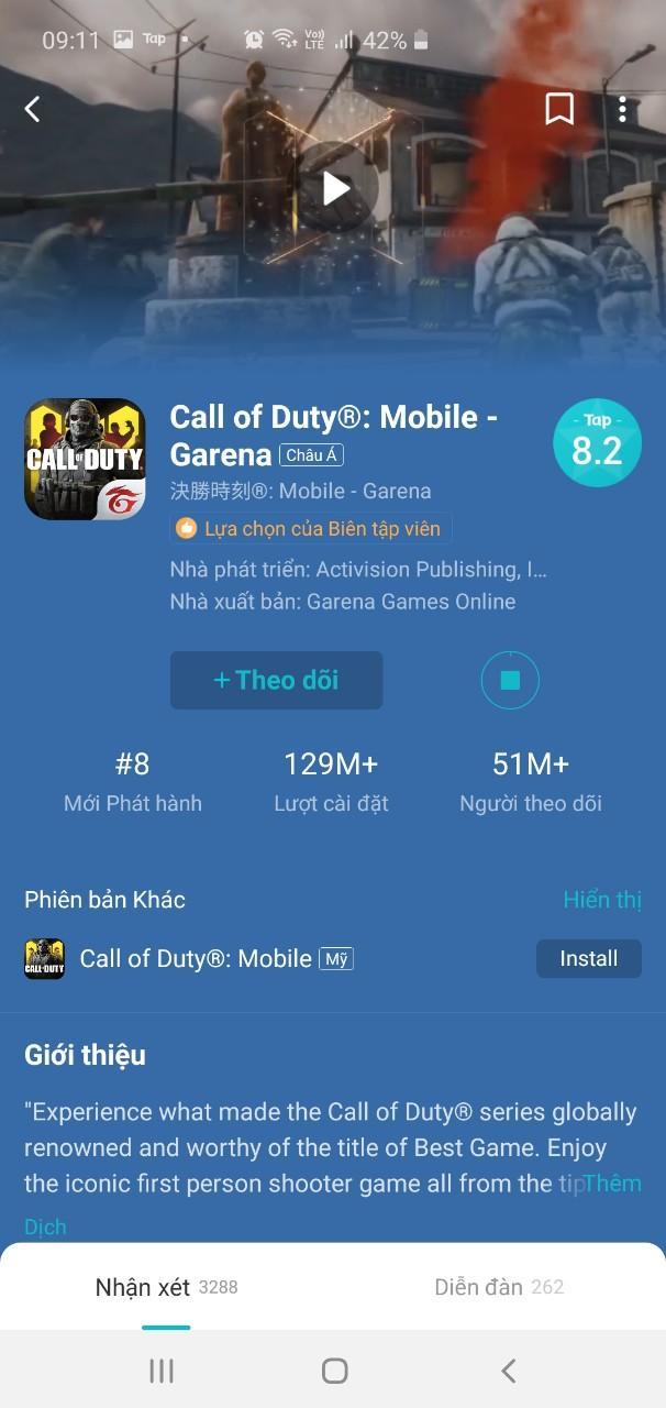 Search từ khóa Call of Duty