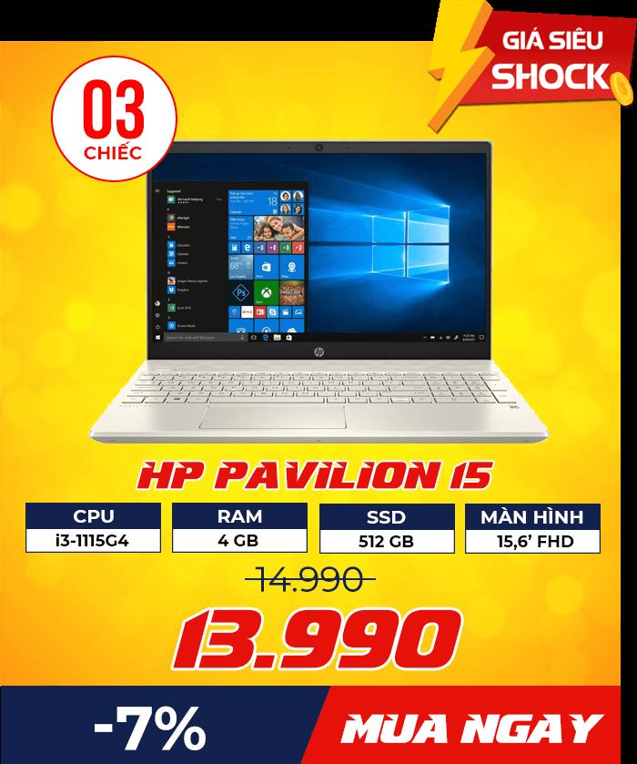 HP Pavilion 15 - Flash Sale mỗi ngày: Xả hàng & Giảm giá cực sốc - Ben Computer