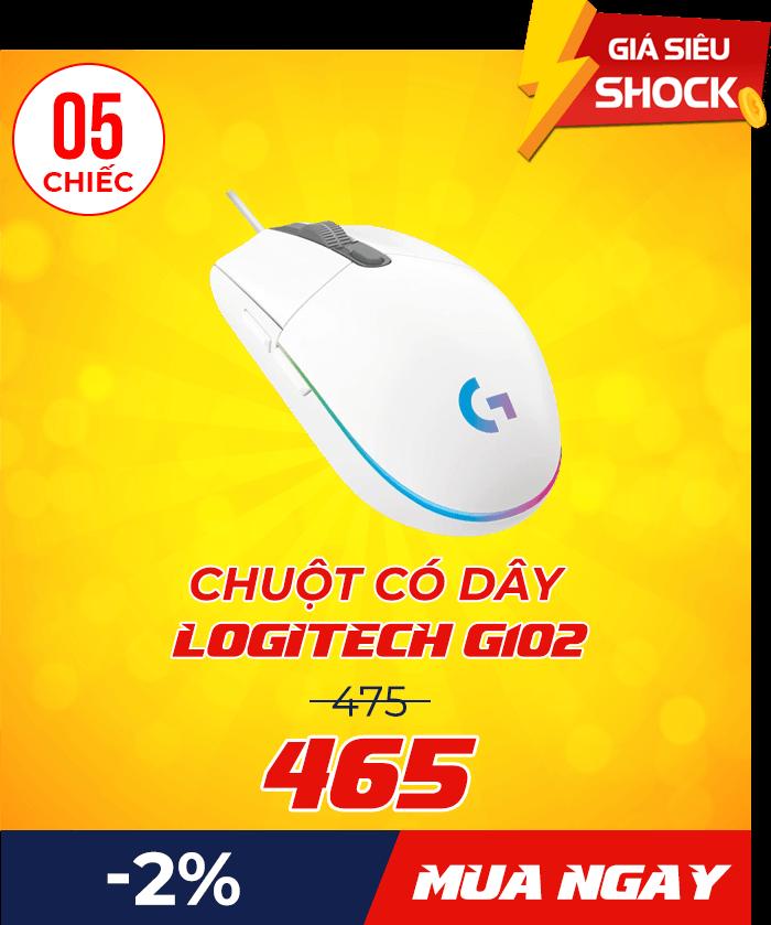 Logitech G102 - Flash Sale mỗi ngày: Xả hàng & Giảm giá cực sốc - Ben Computer