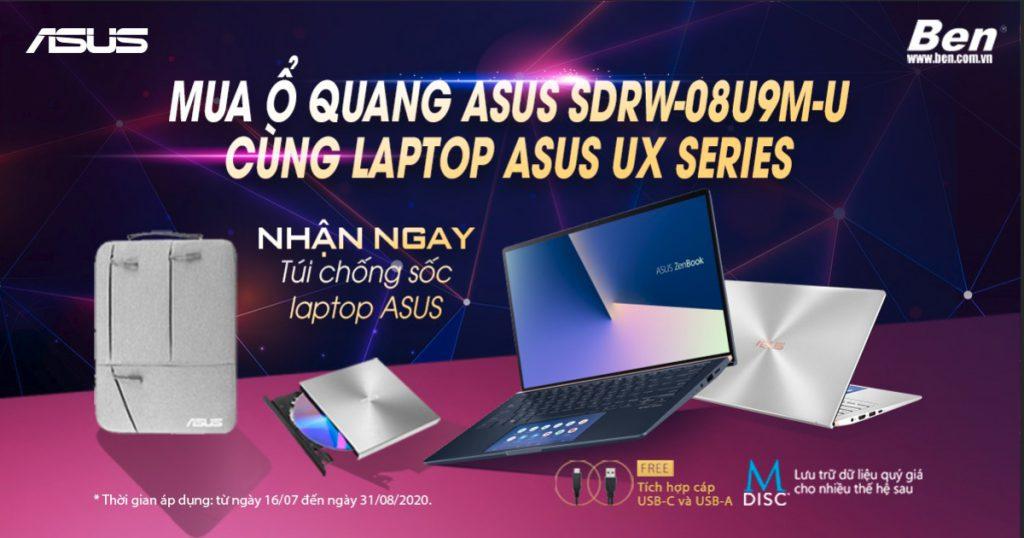Promotion ODD Laptop 785x466 1 - Nhận túi chống sốc cực chất khi mua ổ quang SDRW kèm laptop ASUS dòng UX - Ben Computer
