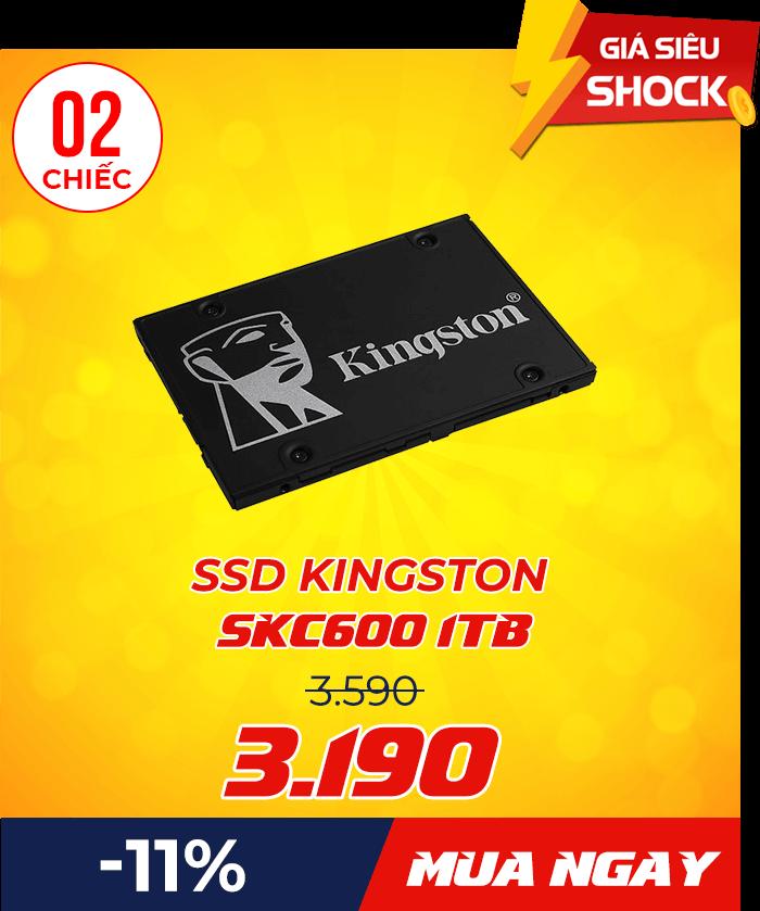 SSD Kingston SKC600 1TB - Flash Sale mỗi ngày: Xả hàng & Giảm giá cực sốc - Ben Computer