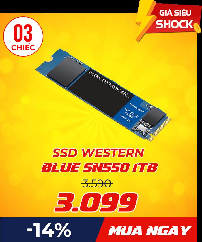 SSD Western Blue SN550 - Flash Sale mỗi ngày: Xả hàng & Giảm giá cực sốc - Ben Computer