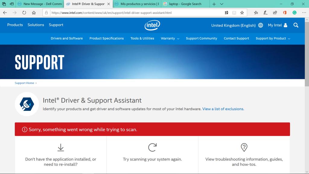 Intel Driver & Support Assistant - Phần mềm Cập nhật Intel driver, phần mềm hệ thống