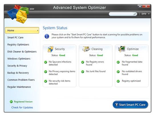Advanced System Optimizer - Phần mềm tăng tốc chơi game