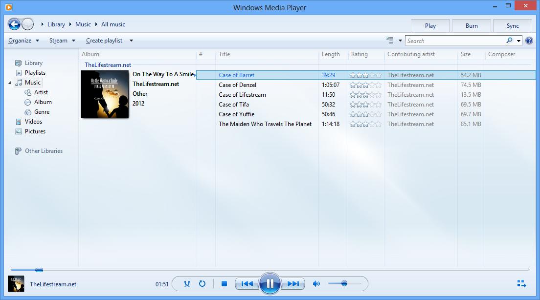 Windows Media Player - Phần mềm nghe nhạc mặc định Windows