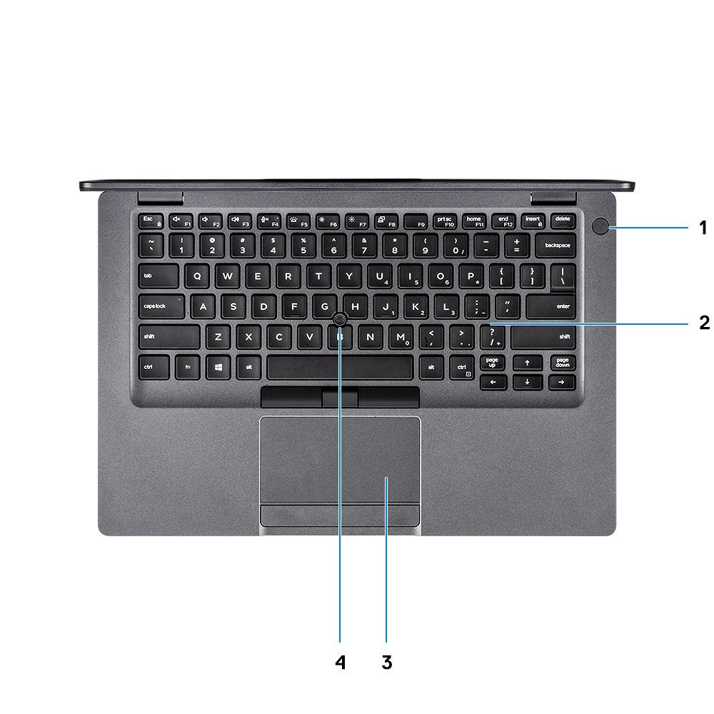 Bàn phím trên Máy tính xách tay Dell Latitude 5400 vớichiclet êm ái