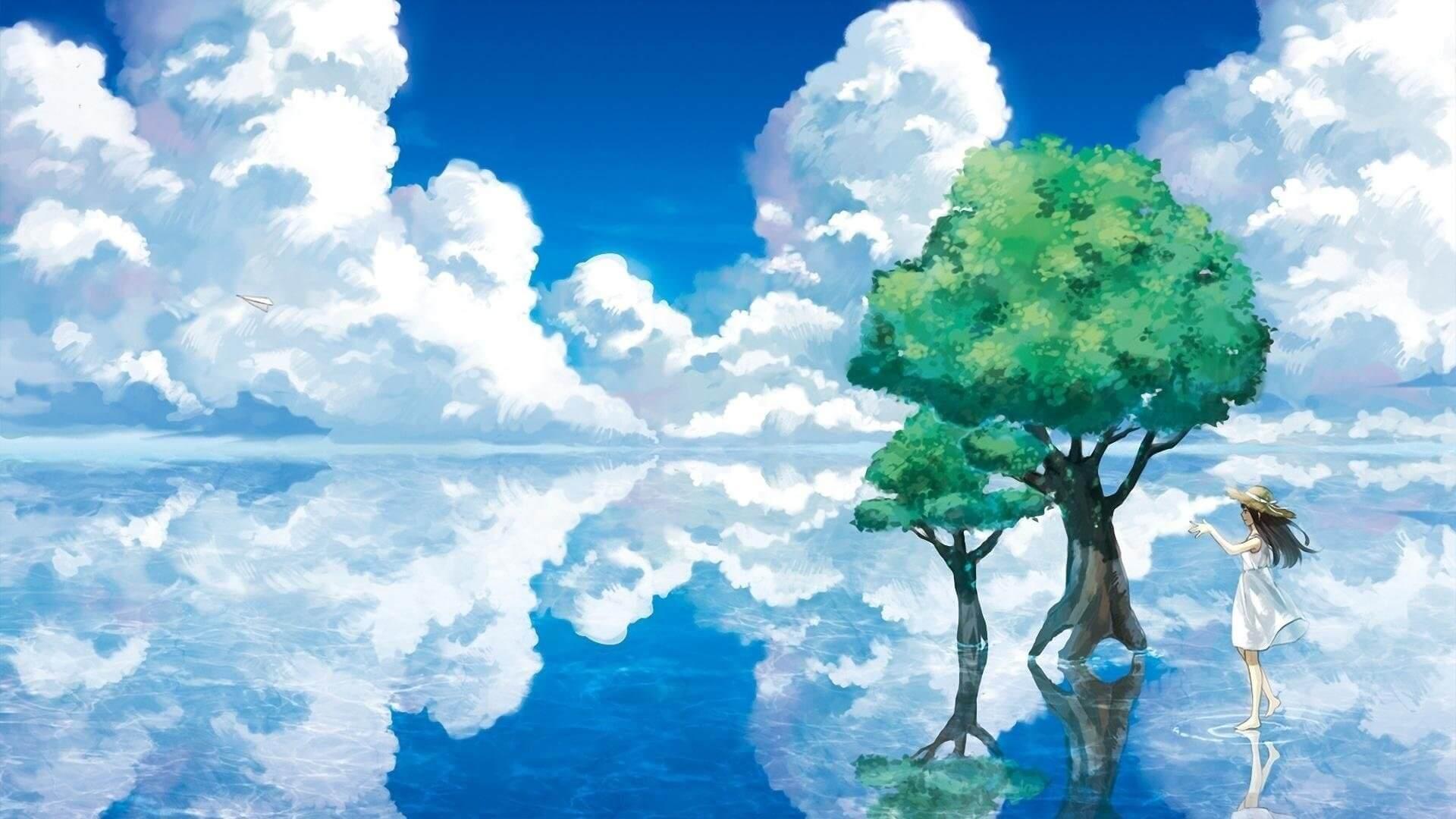 Hình nền máy tính anime phong cảnh