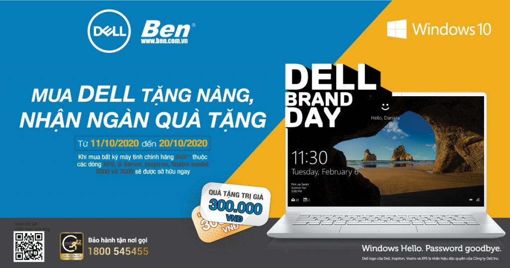 CTKM Dell Windows thang 10 - Mua Dell tặng nàng, nhận ngàn quà tặng - Ben Computer