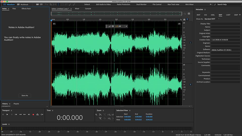 Adobe Audition - Phần mềm xử lý, chỉnh sửa âm thanh chuyên nghiệp tốt nhất