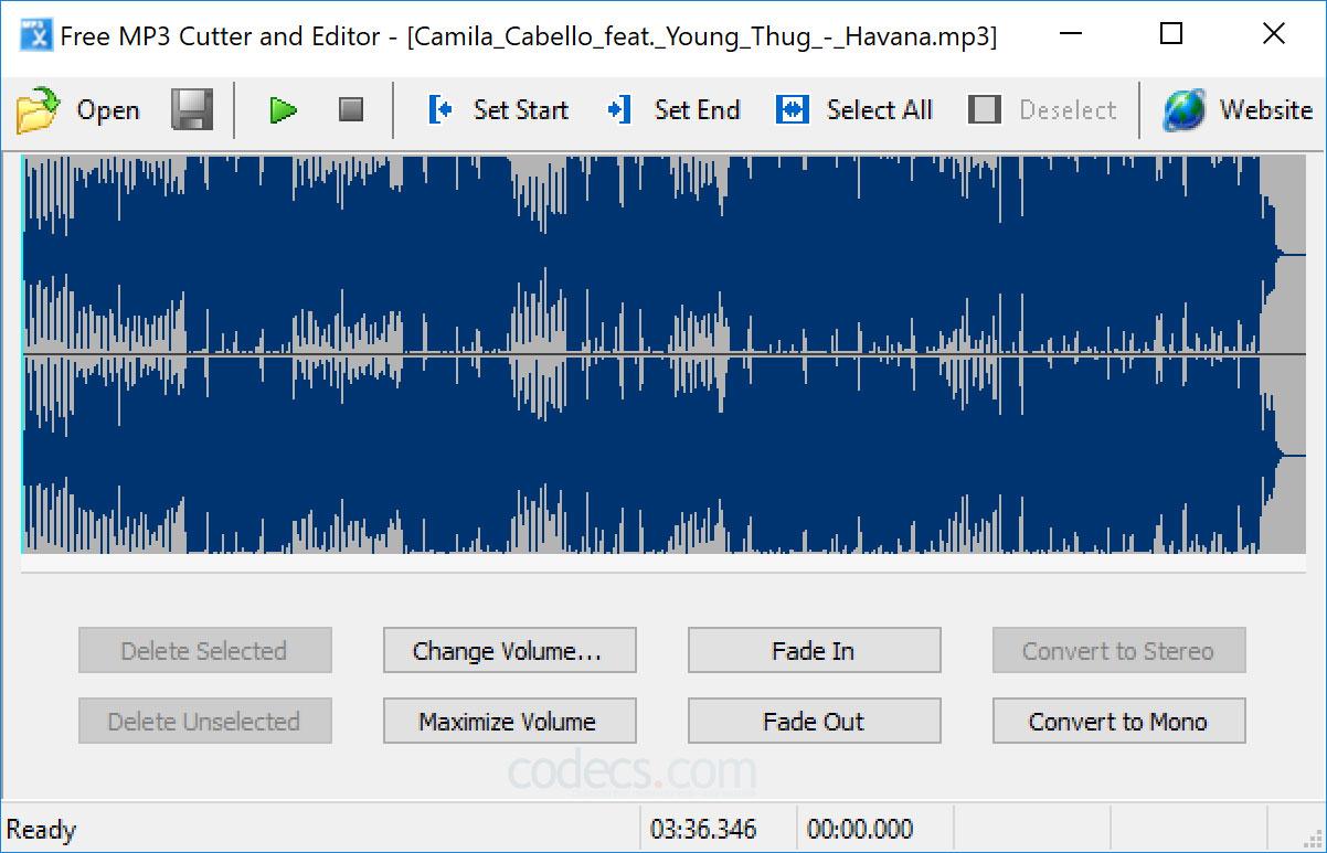 Free MP3 Cutter and Editor - Phần mềm cắt nhạc đơn giản cho người mới