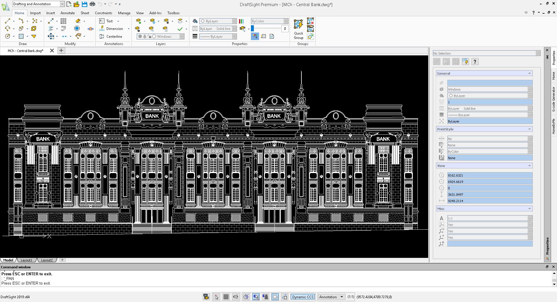 DraftSight - Phần mềm đọc file dwg nổi bật