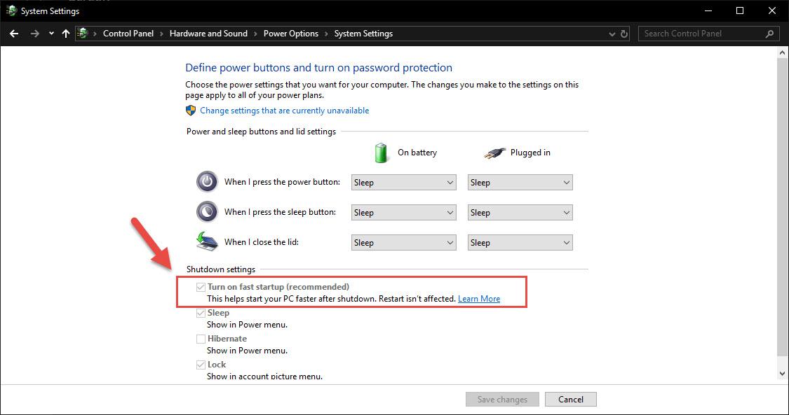 Vô hiệu hóa tính năng Fast Startup trên Windows 8, 8.1 và 10 - Ảnh 4