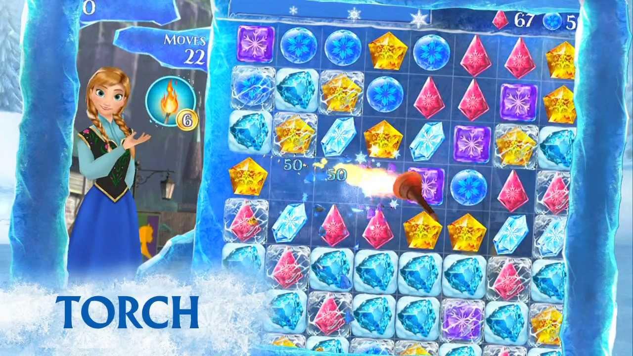 Frozen Free Fall – game kim cương nữ hoàng băng giá