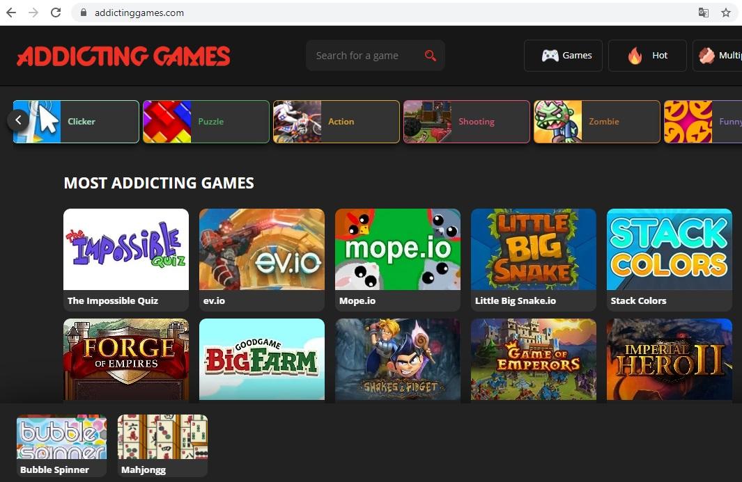 Website chơi game miễn Addictinggames.com cũng được đánh giá rất cao bởi giới game thủ