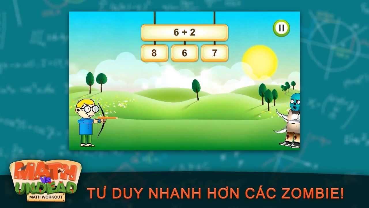 Game đố vui toán học vừa giúp các bạn những phút giây giải trí tuyệt vời mà lại rèn luyện được thêm khả năng tư duy logic
