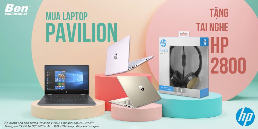 km hp tai nghe - Mua HP Pavilion 14/15 & Pavilion x360 gen 10/11 tặng HP Headset H2800 chính hãng - Ben Computer