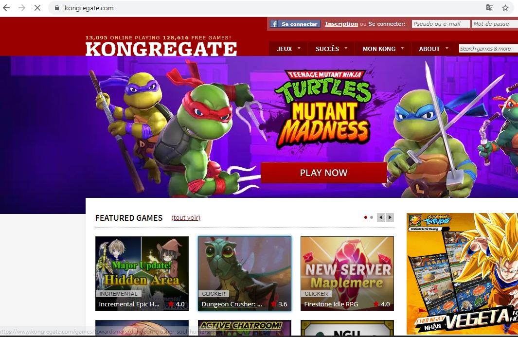 Kho game miễn phí khổng lồ có sẵn trên webiste Kongregate.com