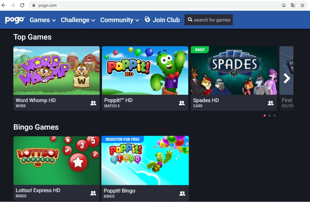 Web game Pogo.com đem đến những phút giải lao vô cùng vui vẻ cho ban sau một ngày dài làm việc mệt mỏi