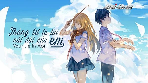 Phim Anime tình cảm học đường lãng mạn - Tháng tư là lời nói dối của em