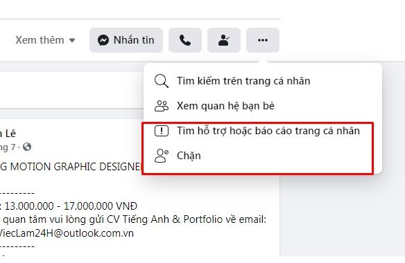 chặn spam trên facebook